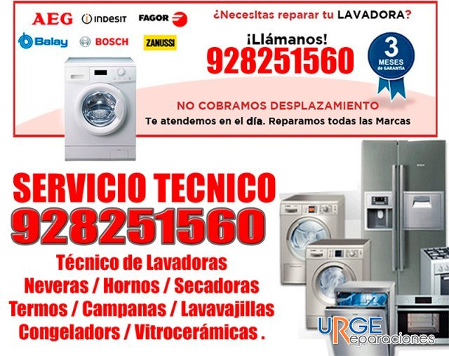 tecnico de lavadora en las palmas 928251560 en palmas de